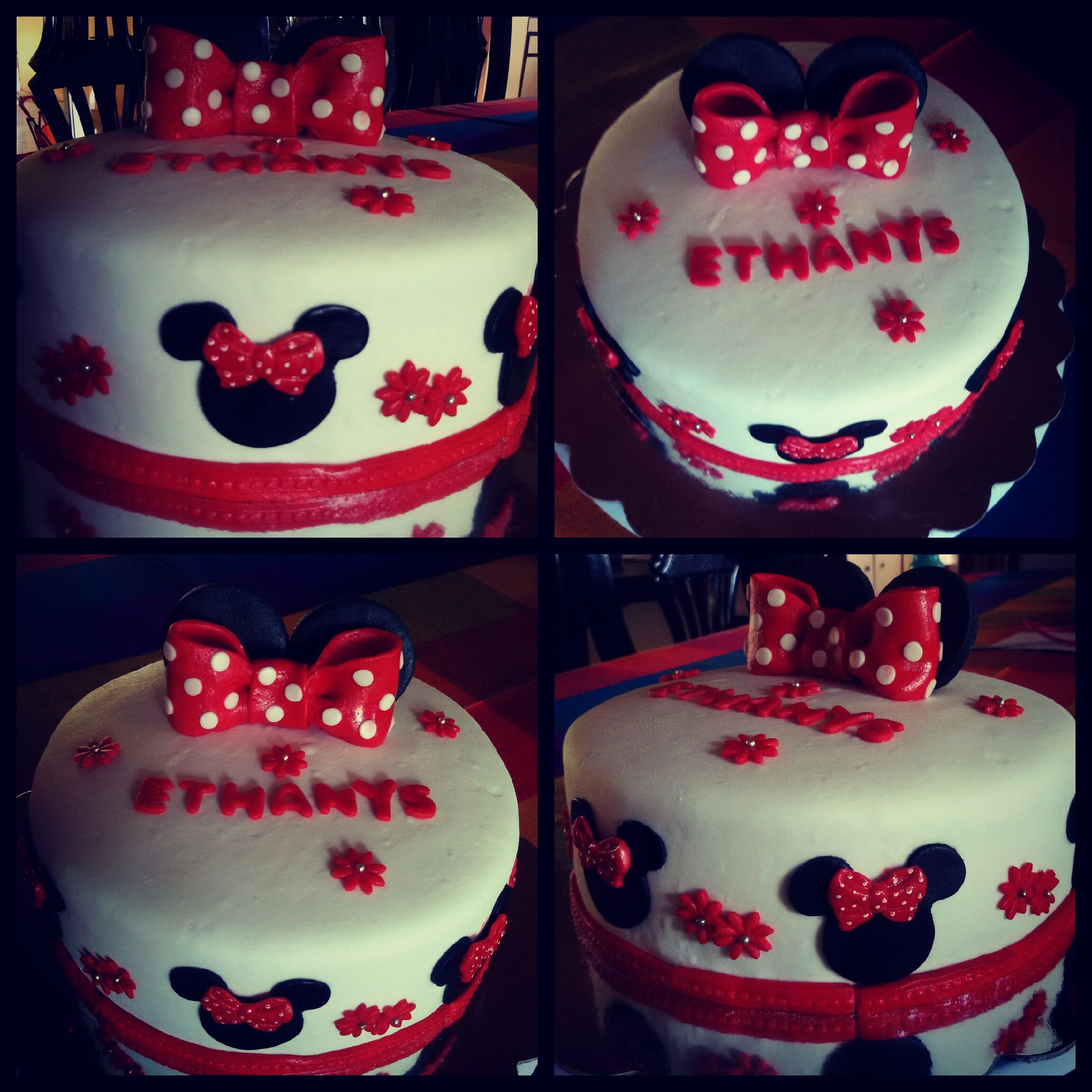 The gallery for pasteles de minnie y mickey mouse for Como decorar un bizcocho